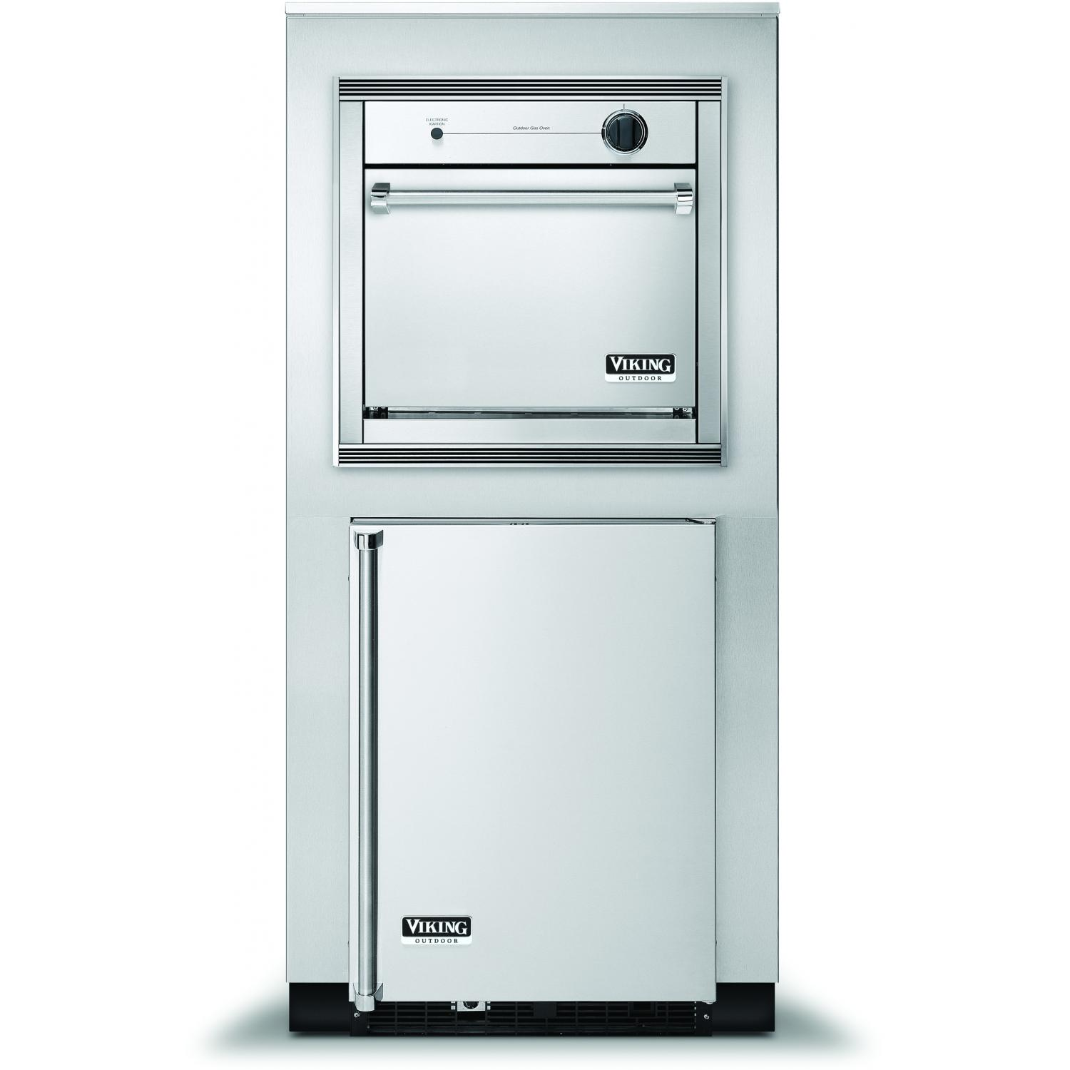 Viking VGSO260TLSS 26-Inch Propane Outdoor Oven In Tower Cabinet With Beverage Center - Right Hinge