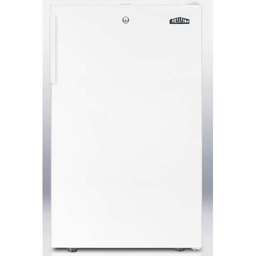 Summit FS407LBI 2.8 Cu. Ft. Capacity Built-In Or Freestanding Compact Freezer - White Door / White Cabinet
