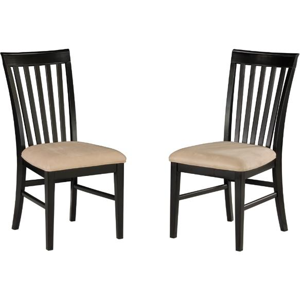 Atlantic Furniture 7001120 Mission Dining Chairs Espresso W/ Oatmeal Cushion (Set Of 2 Chair