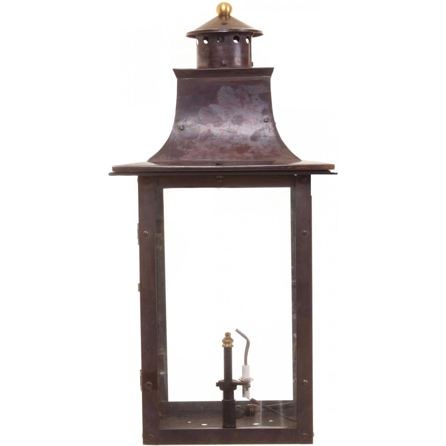 Regency GL21 Faye Rue Small Natural Gas Light With Open Flame Burner And Electronic Ignition On Decorative Corner Wall Mount