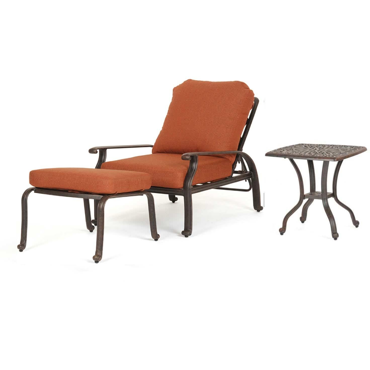 Caluco Florence Aluminum Lounge Set With Adjustable Chair