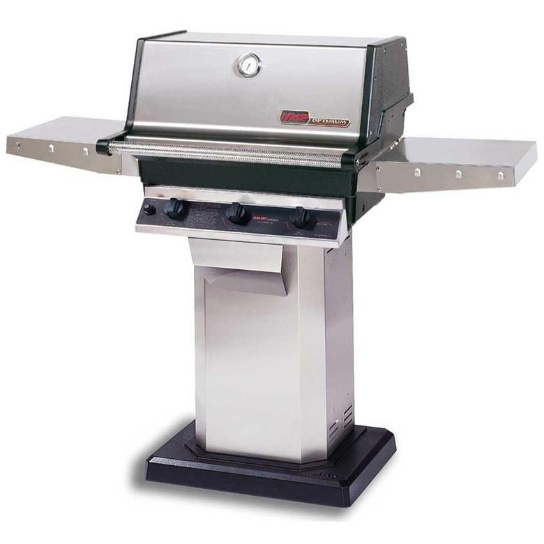 MHP Gas Grills TRG2 Infrared Natural Gas Grill W/ SearMagic Grids On Stainless Patio Base