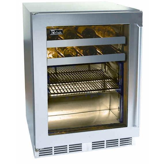 Perlick HP24BS-3L 16-Bottle / 54 Can Built-In Beverage Center - Glass Door / Stainless Steel Trim