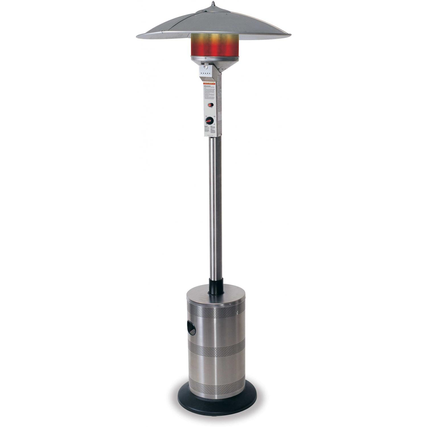 Endless Summer Patio Heaters Stainless Steel Deluxe Residential Propane Patio Heater