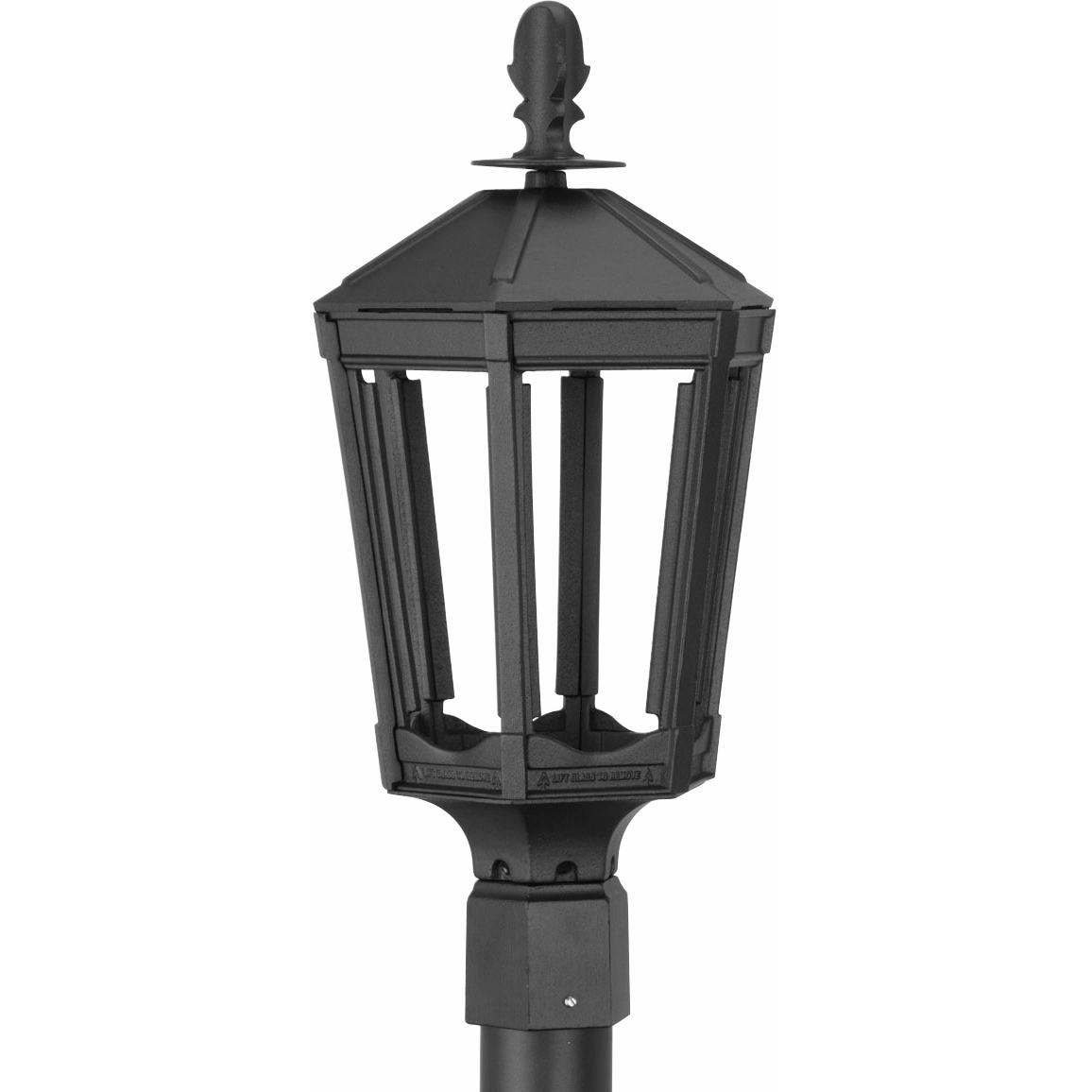 Picture of American Gas Lamp Works GL1000 Cast Aluminum Electronic Ignition Natural Gas Light With Open Flame Burner For Post Mount
