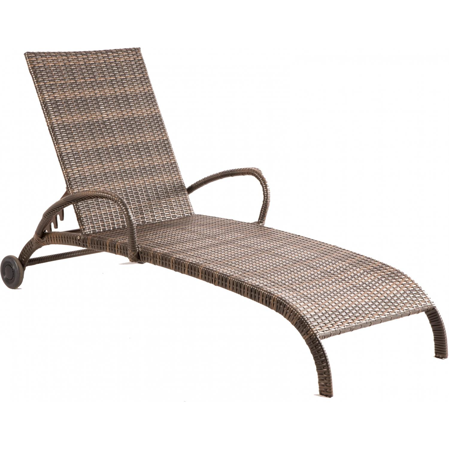 Picture of Alfresco Home Tutto All Weather Wicker Adjustable Chaise Lounge