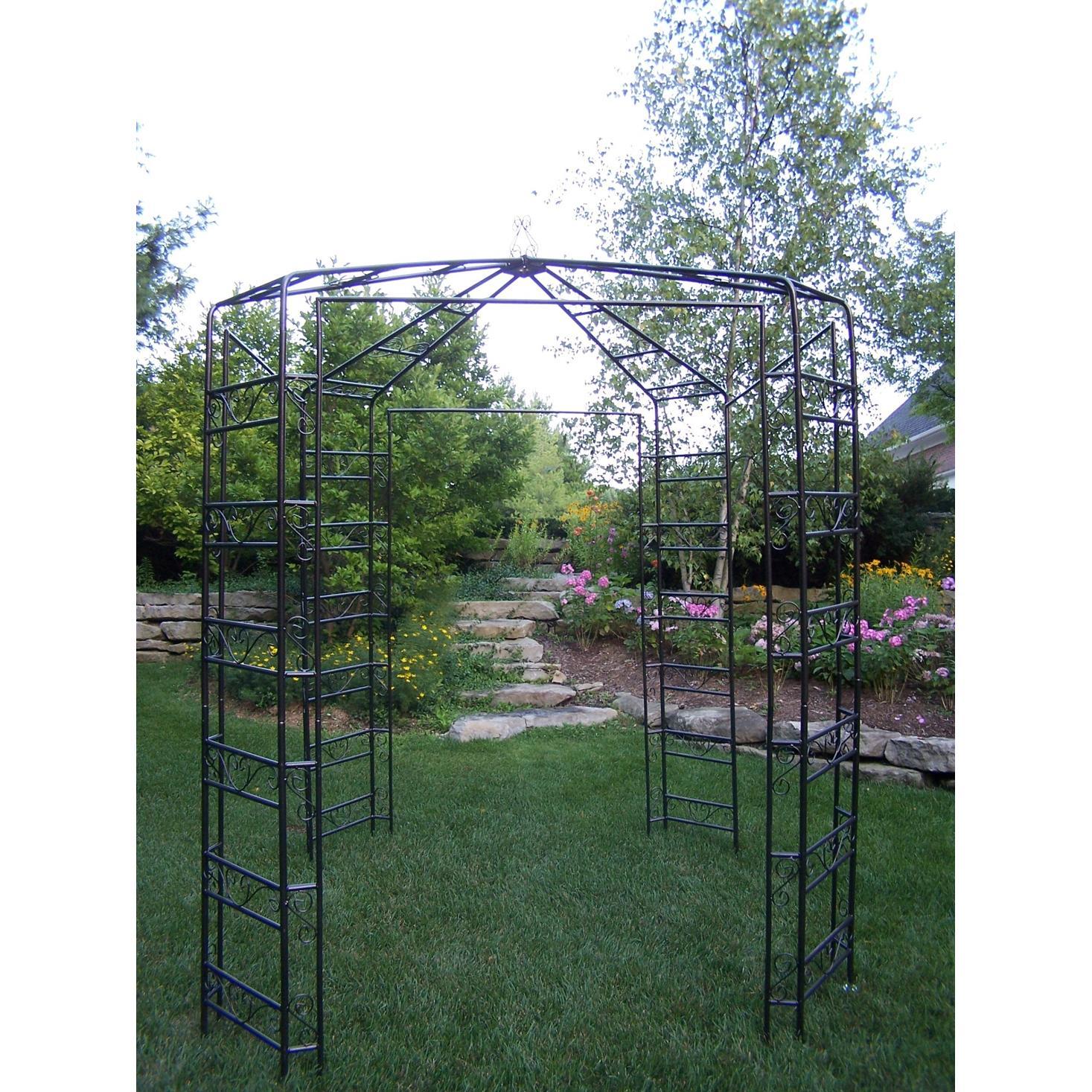 Oakland Living Mississippi Garden Gazebo - Hammertone Bronze