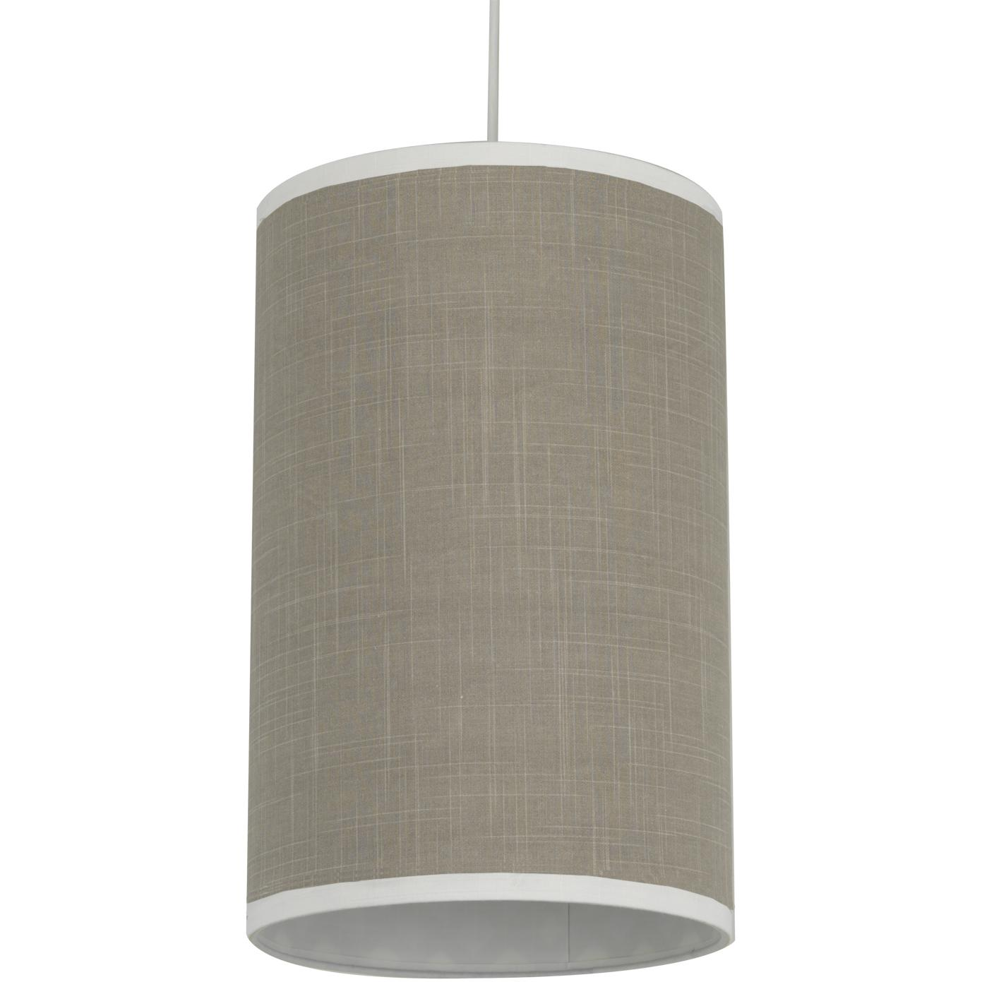 Oilo Cylinder Hanging Lamp - Cobblestone Taupe Solid