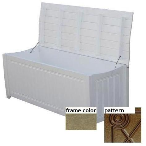Eagle One Recycled Plastic Brisbane Curved Top Deck Box Diamond Pattern - Driftwood