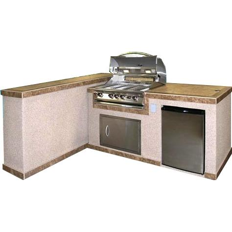Cal Flame 2-Piece BBQ Island And Side Bar With 32 Inch Cal Flame Natural Gas BBQ Grill