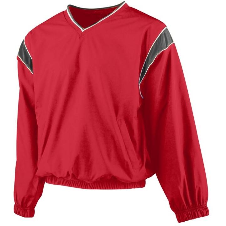 Augusta Micro Poly Windshirt 2XL - Red/Black