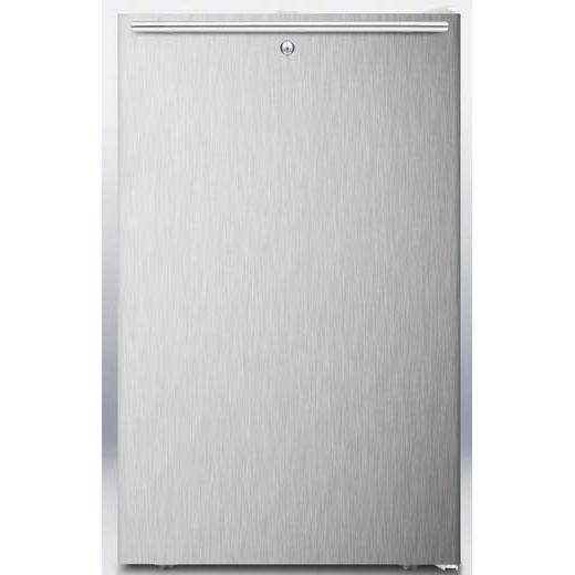 Summit FS407LBISSHH 2.8 Cu. Ft. Capacity Built-In Or Freestanding Compact Freezer - Stainless Steel Door / White Cabinet