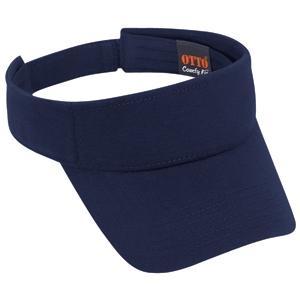 Otto Cap Comfy Cotton Jersey Knit Sun Visor - Navy