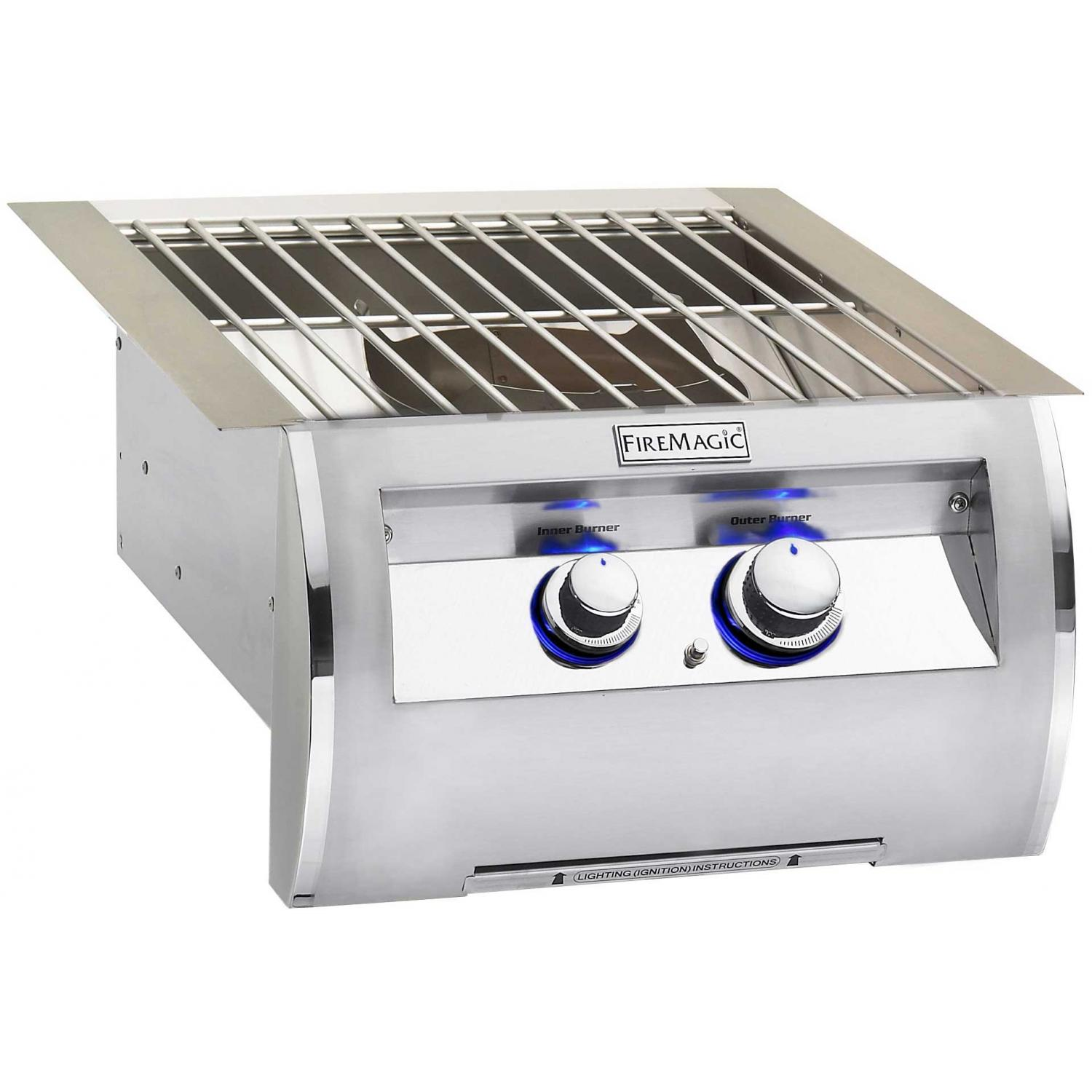 Fire Magic Echelon Diamond Natural Gas Built In Power Burner With Stainless Steel Grid