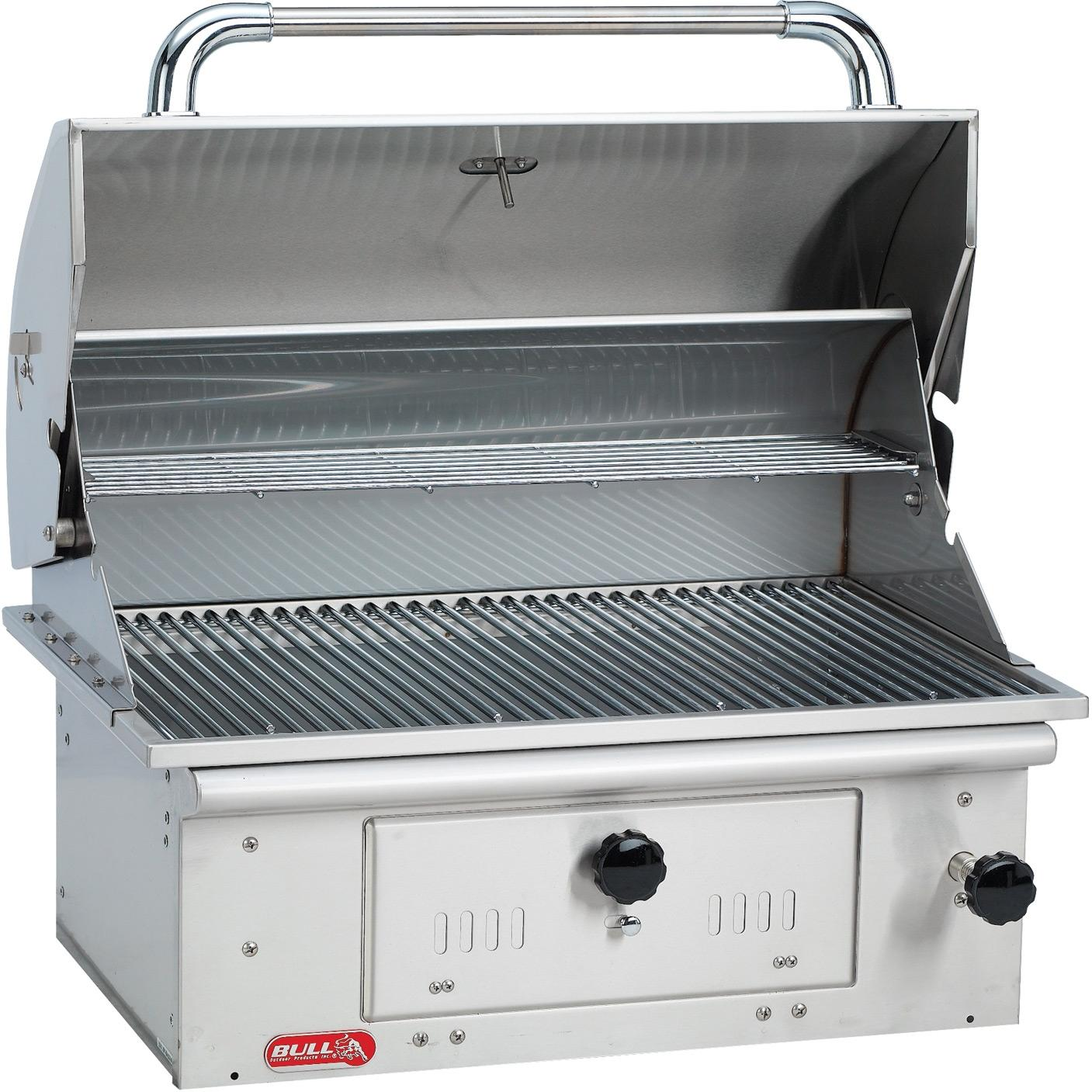 Bull Bison 30-Inch Stainless Steel Built-In Charcoal Grill