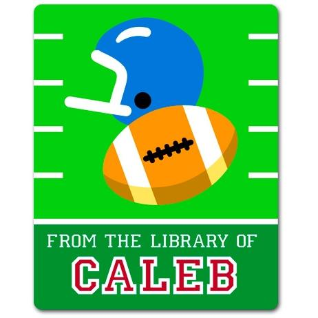 Olive Kids Personalized Book Plate - Game On Football
