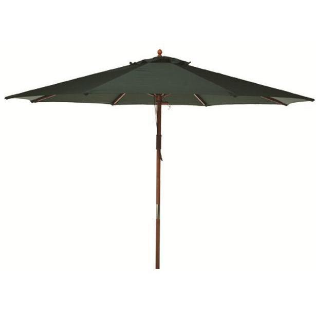 Bond Manufacturing Wooden Market Umbrella 9 Foot - Green