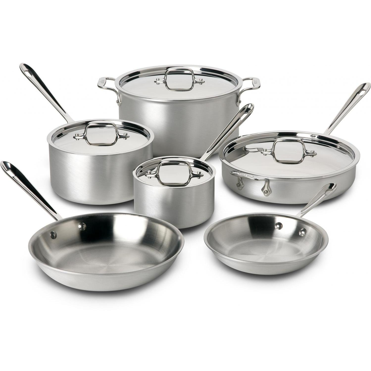 Picture of All-Clad Master Chef 2 Stainless 10-Piece Cookware Set