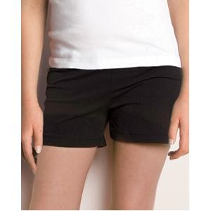 Bella Girls Cotton/Spandex Fitness Shorts Large - Black