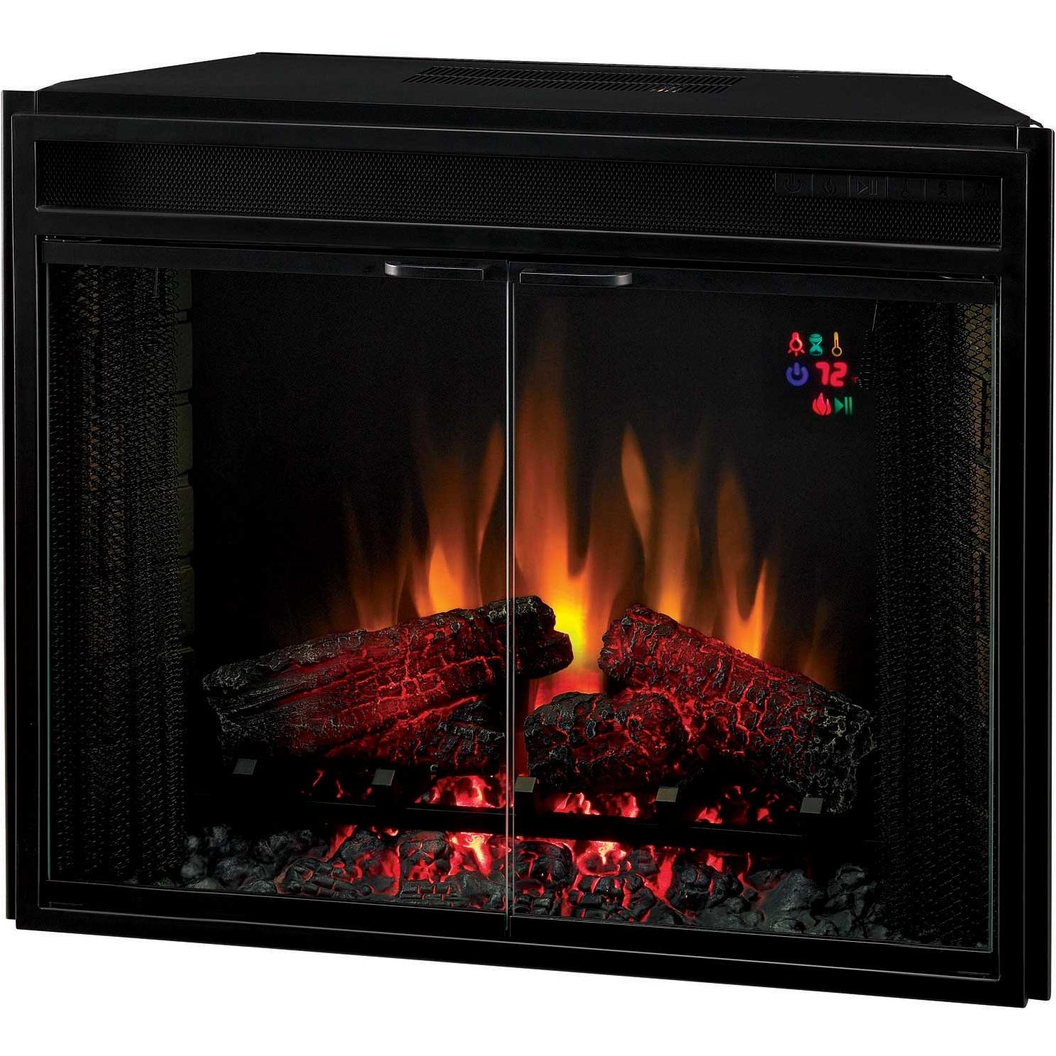 ClassicFlame 28EF025GRA 28 Inch Electric Fireplace Insert With Doors And Remote - Black