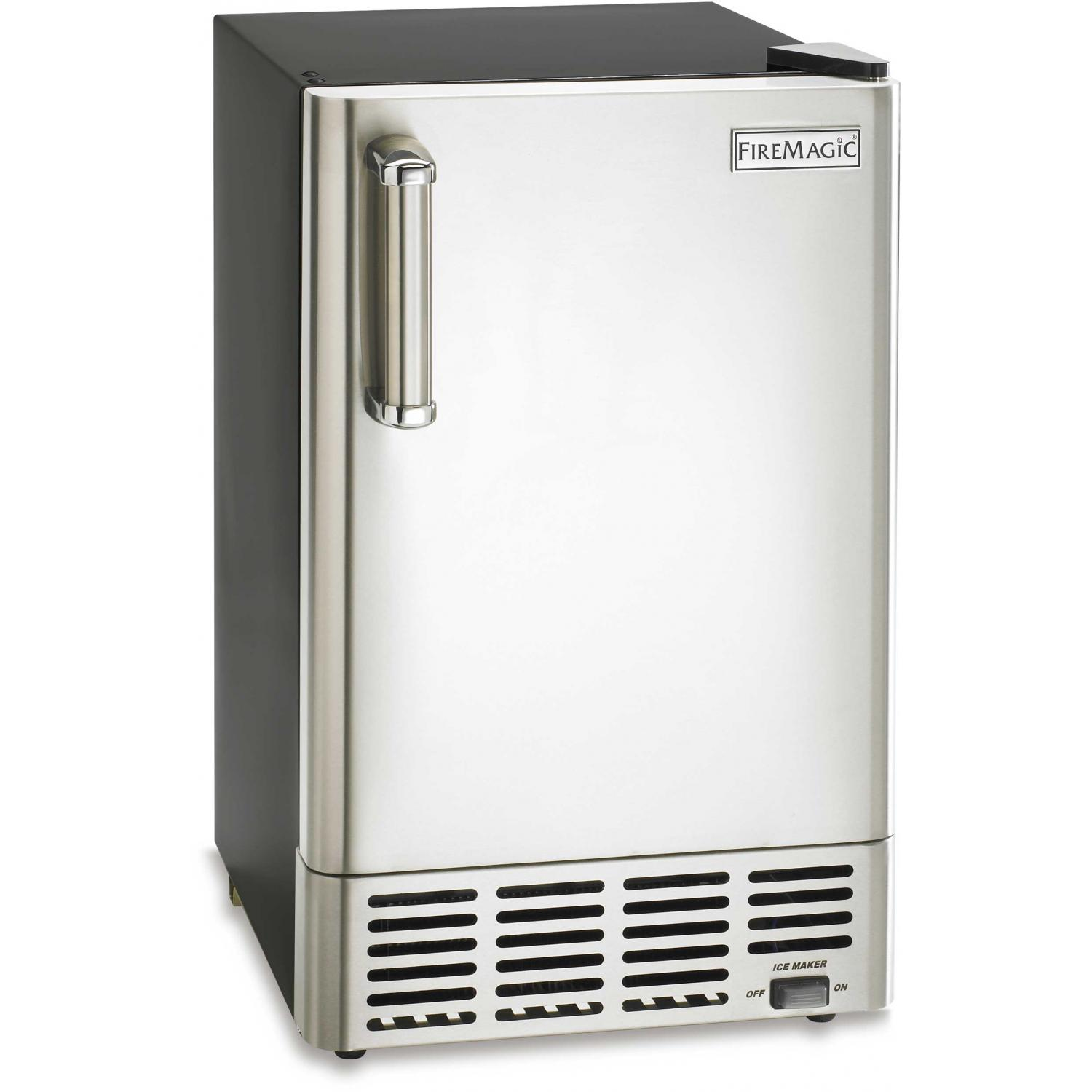 Fire Magic 3592 Outdoor Ice Maker - Stainless Steel Door / Black Cabinet