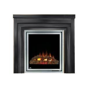 Napoleon EFMM30K Electric Fireplace With Log Set / Metro Mantel - Black