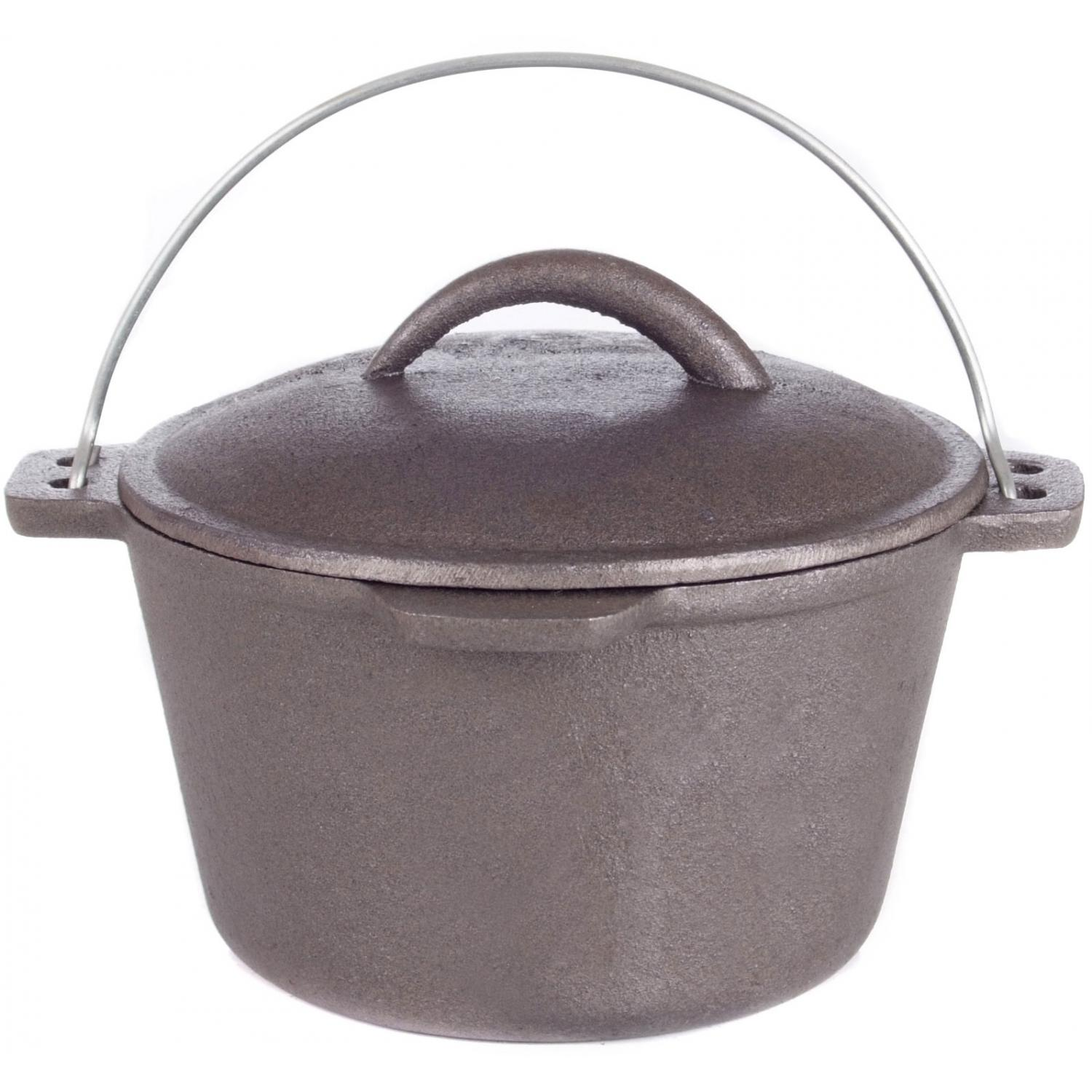 Cajun Cookware Dutch Ovens 1 Quart Cast Iron Dutch Oven
