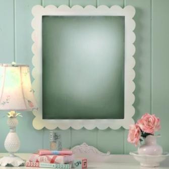 New Arrivals Scalloped Edge Wall Mirror