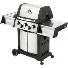 Broil King Signet 90 3-Burner Freestanding Propane Gas Grill With Rotisserie & Side Burner - Stainless Steel Broil King Signet 90 3-Burner Freestanding Gas Grill - Angled View