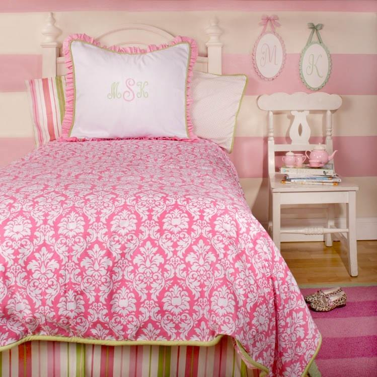 New Arrivals Twin Bed Skirt - Pink Taffy