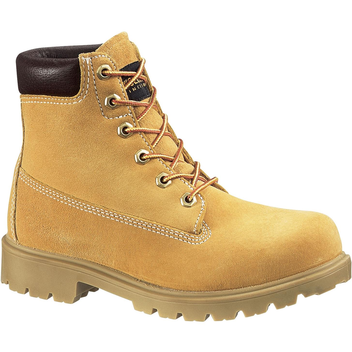 Wolverine Womens 6 Inch Waterproof Insulated Field Work Boots - Gold - Size 7 - Wide
