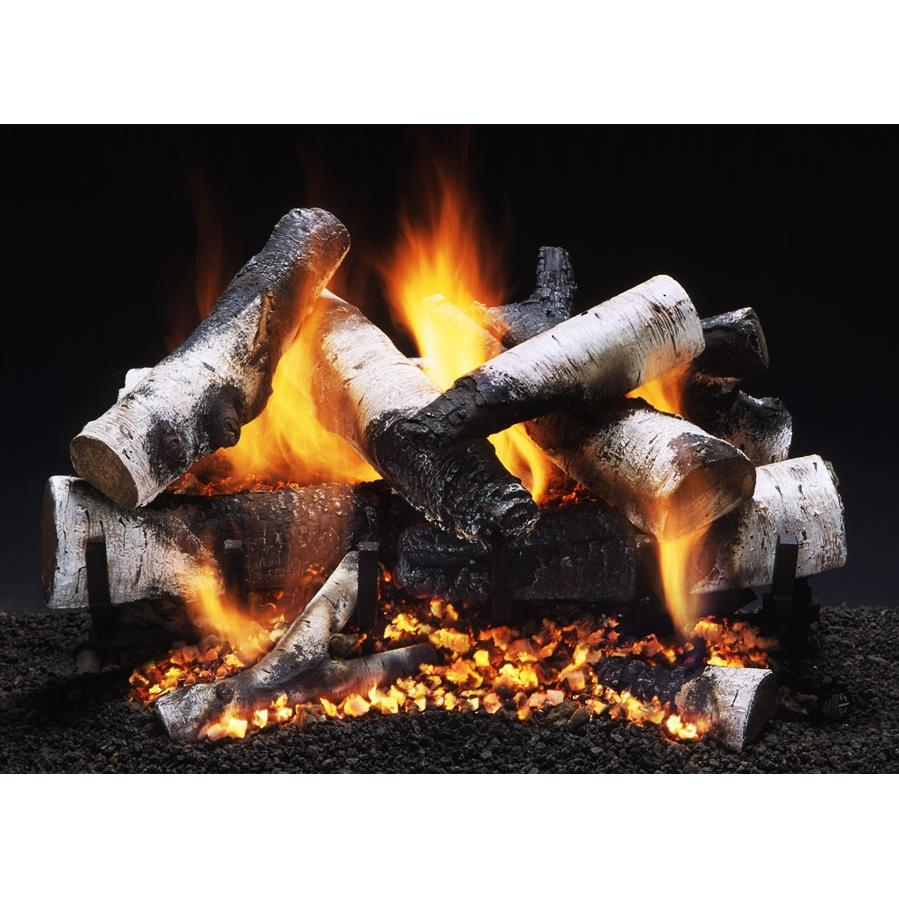Firegear 18-Inch Old Man Birch Vented Log Set Without Burner
