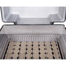 PGS A30 Cast Aluminum Propane Gas Grill On In-Ground Post Stainless Steel Rod Cooking Grids and Warming Rack