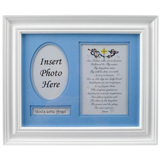 Elegant Baby Prayer Photo Frame - Boy