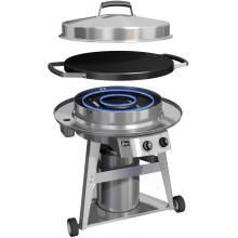 Evo Professional Classic Wheeled Cart Flattop Natural Gas Grill Evo Professional Cart Inside