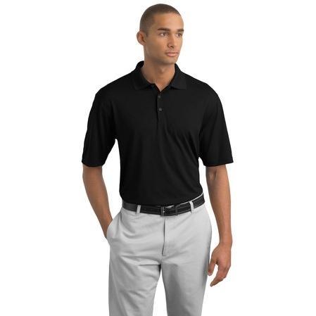Nike Golf Dri-FIT Cross-Over Texture Polo Shirt Large - Black