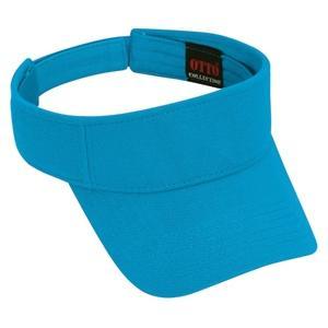 Otto Cap Comfy Cotton Pique Knit Sun Visor - California Blue
