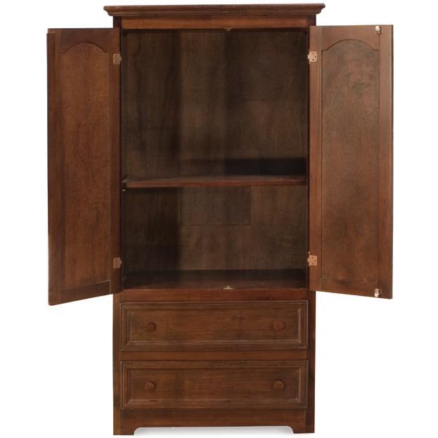 Atlantic Furniture 71904 Manhattan 2 Drawer Armoire Antique Walnut