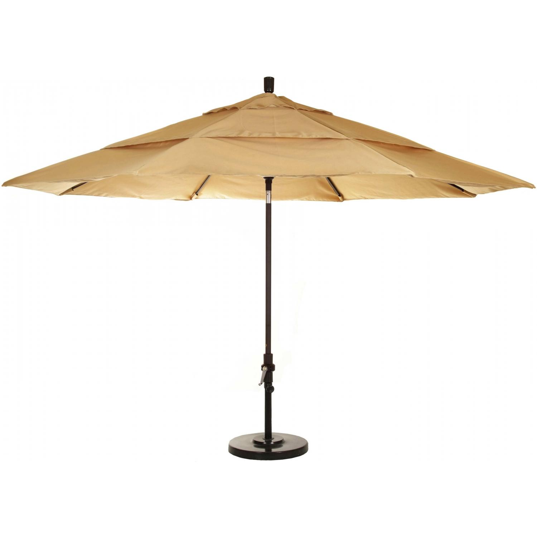 California Umbrella 11-Ft Cantilever Wheat Market Umbrella With Multi-Position Tilt And Fillable Base