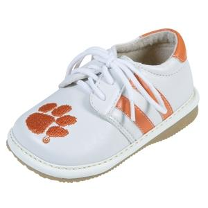 Squeak Me Shoes Boys Collegiate Toddler Shoe Size 3 - Clemson