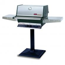 MHP TJK2 Propane Gas Grill With Stainless Grids On Bolt Down Post MHP TJK2 Freestanding Gas Grill With SearMagic Grids
