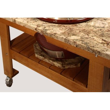 Saffire Grill Granite Riser For Kamado Table - Crystal Forest