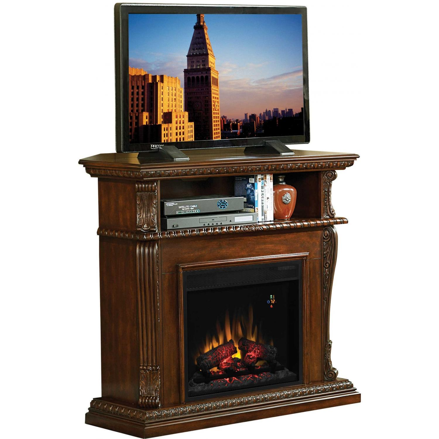 ClassicFlame 23DE1447-C233 Advantage Corinth Dual Use Electric Fireplace - Vintage Cherry