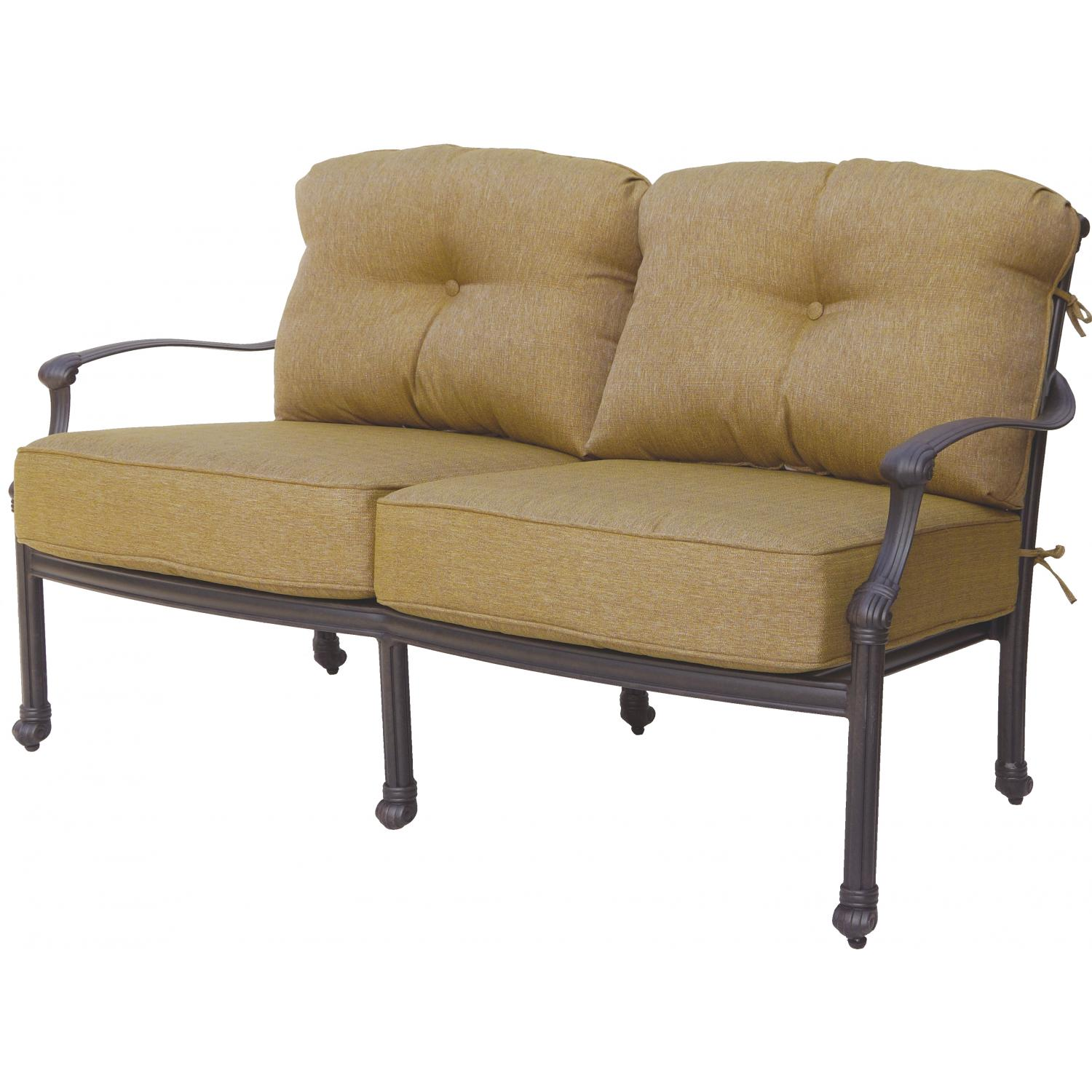 Picture of Darlee Camino Real Cast Aluminum Patio Loveseat - Antique Bronze