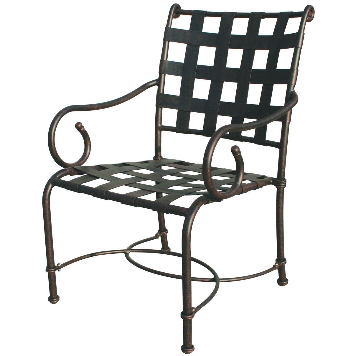 Darlee Malibu Aluminum Outdoor Patio Dining Chair With Cushions - Antique Bronze
