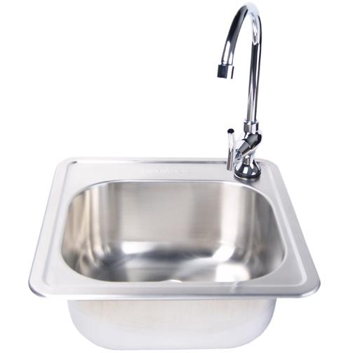 Picture of Fire Magic Stainless Steel 15 X 15 Sink With Faucet