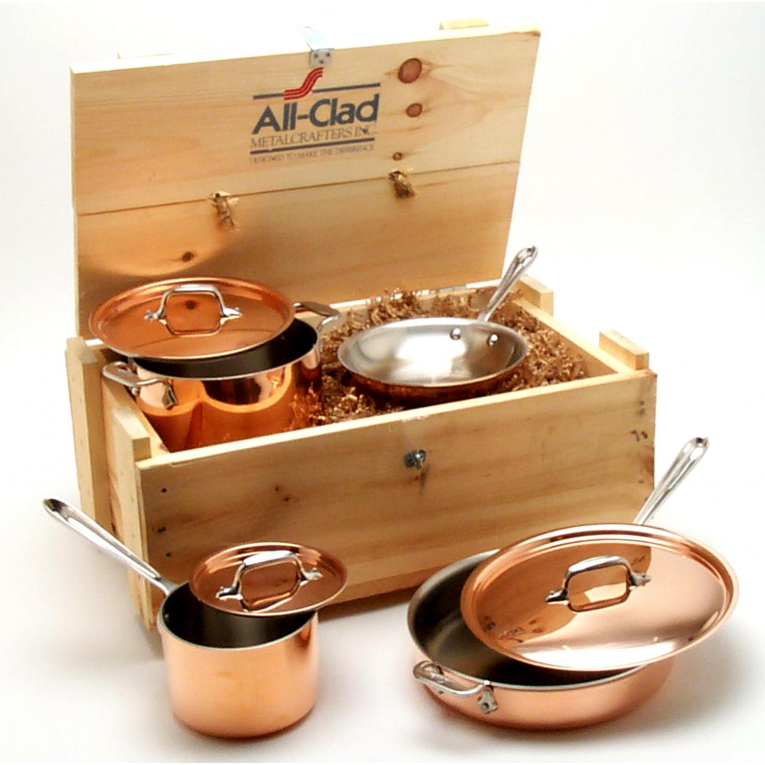 All-Clad Cop-R-Chef 7-Piece Cookware Set