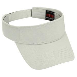 Otto Cap Comfy Cotton Jersey Knit Sun Visor - Silver Gray