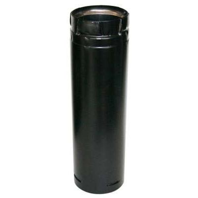 Picture of Duravent 3 X 12 DuraPlus Stainless Steel/Black Pellet Vent Double-Wall Chimney Pipe