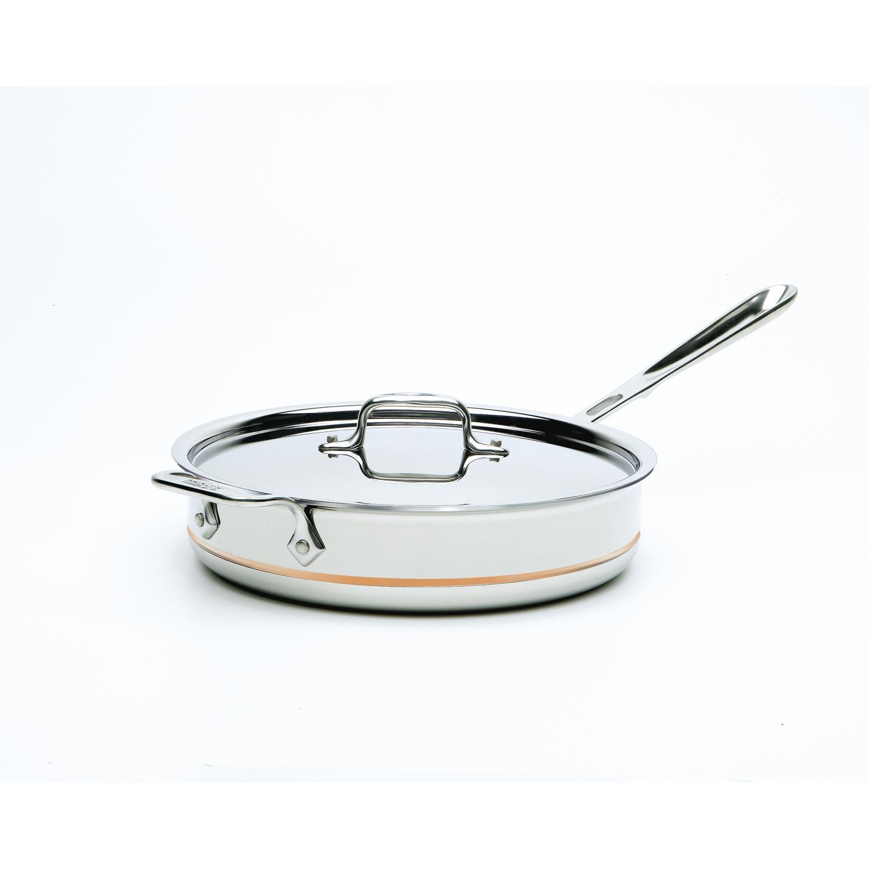 All-Clad Copper-Core 3-Quart Saute Pan With Lid